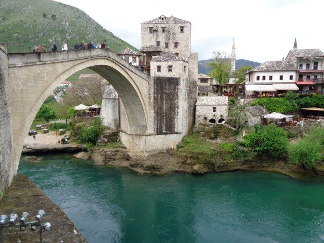 The rebuilt Ottoman bridge in Mostar, Bosnia